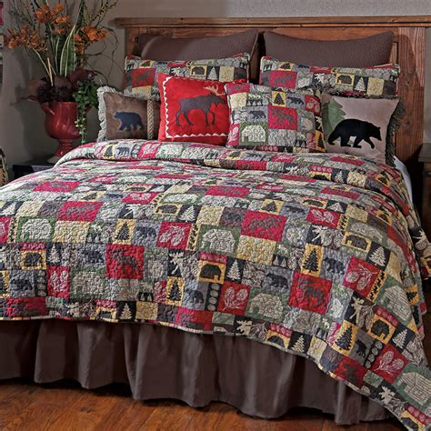 Lodge Patchwork Quilt Set   Twin