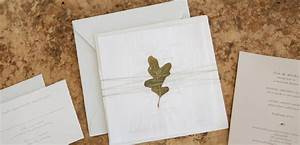 organic hand torn paper wedding invitation tiny pine press With wedding invitations dried flowers