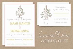 Lovetree wedding invitation suite invitation templates for Wedding invitation tree psd
