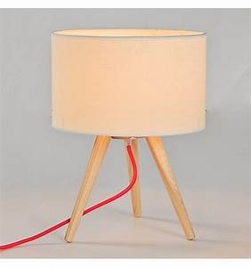 Abat Jour En Bois : lampe de table tr pied moderne en bois avec abat jour ~ Dailycaller-alerts.com Idées de Décoration