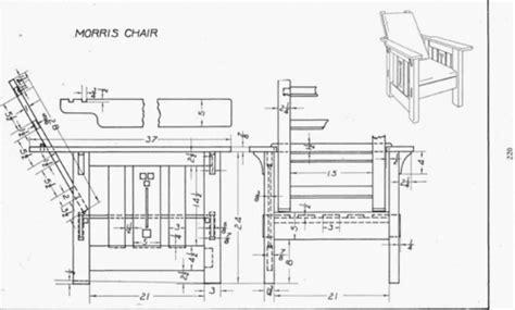 plate  morris chair mechanical drawing