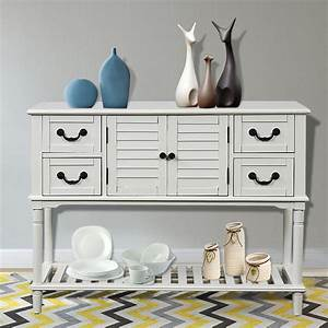 Rustic, Entryway, Table, Farmhouse, Console, Table, With, Four, Drawers, And, 1, Cabinet, Sofa, Table