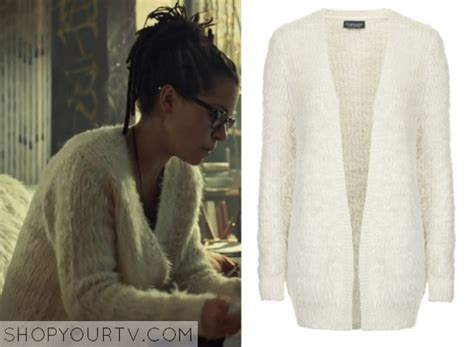 Fluffy White Cardigan Sweater