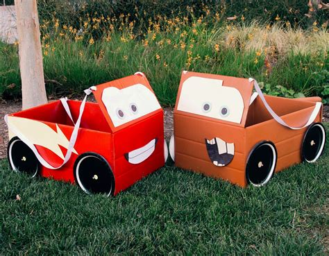 box auto mcqueen mater box car costumes disney family