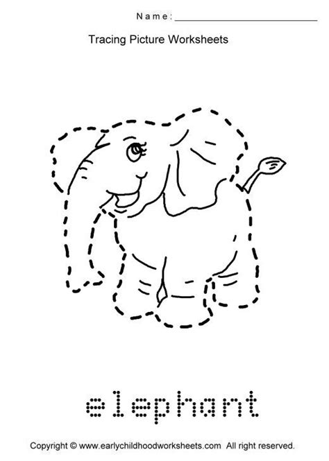 tracing animals worksheets trace animals images as to print this worksheet
