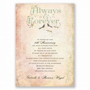 always and forever vow renewal invitation vow renewal With renewing wedding vows ideas