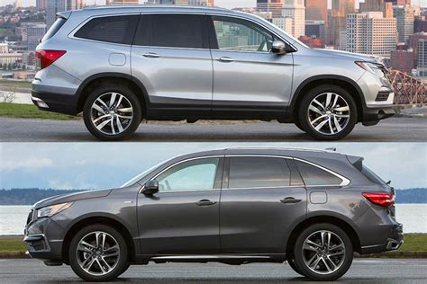 2018 Honda Pilot Vs 2018 Acura Mdx What's The Difference