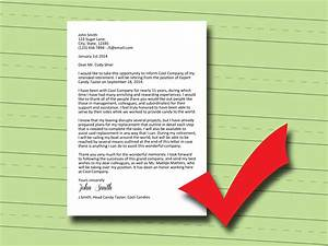 How to Write a Retirement Letter: 14 Steps (with Pictures)