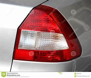 Car Tail Lights Stock Photo  Image Of Transport  Reflector