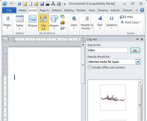 clipart for microsoft word save your signature as office clipart word 2010 add your