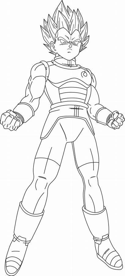 Vegeta Saiyan Goku Coloring Dragon Ball God
