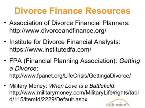 Afcpe 2012 Ffnancial Aspects Of Divorce For Military Familiesall Sli…