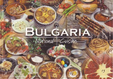 national cuisine of the in postcards sabine 39 s bulgarian national