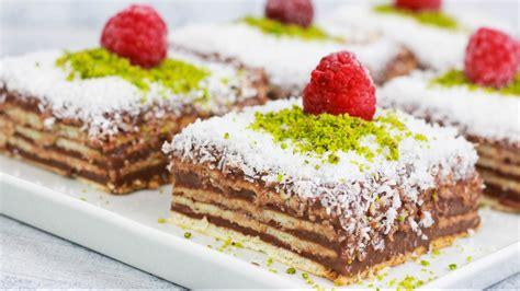 Butterkeks Pudding Kuchen Mit Nur 3 Zutaten
