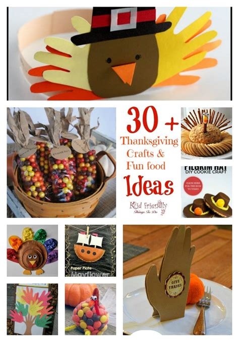 easy kid crafts 30 thanksgiving crafts food crafts for a kid 1935
