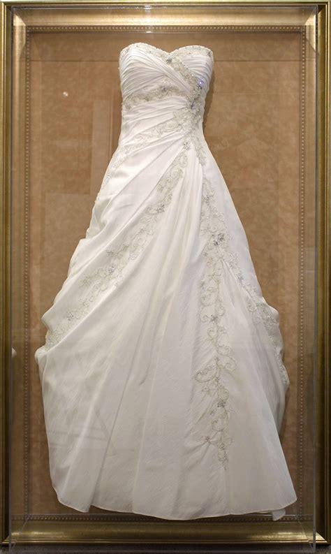 preserve your wedding dress in a custom framed shadowbox