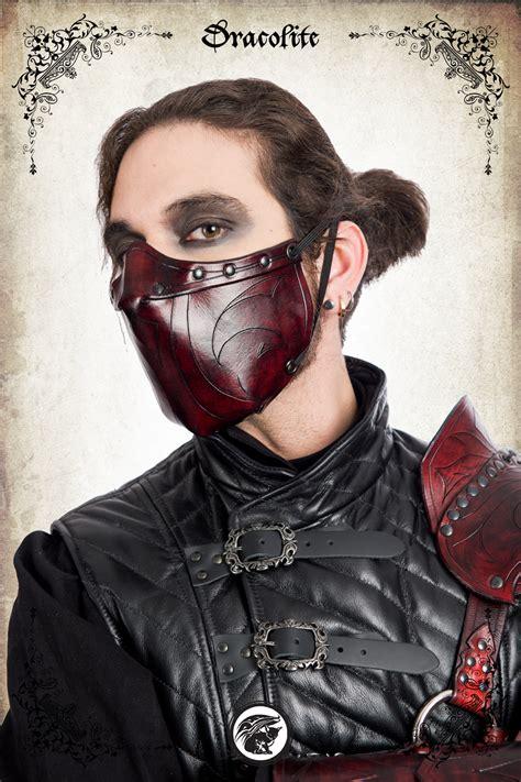 rogue larp assassin mask engraved
