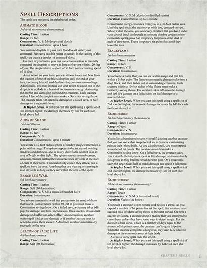 Dnd 5e Homebrew Spells Dark Arts Companion