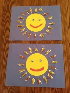 Activité Manuelle été : soleil avec des p tes alimentaires bricolages mes ~ Melissatoandfro.com Idées de Décoration