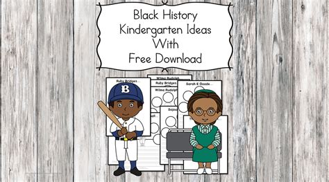 Black History Kindergarten Lesson Plans And Ideas With