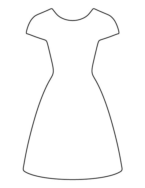 dress template dress pattern use the printable outline for crafts creating stencils scrapbooking and more