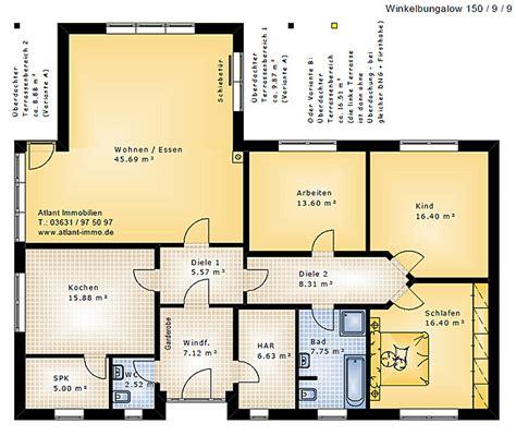 Grundriss Bungalow 150 Qm  Häuser, Immobilien, Bau