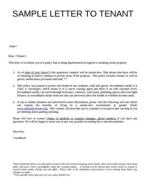sample letter to tenants - Google Search | SAWGRASS