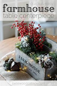 Quick, And, Easy, Farmhouse, Table, Centerpiece