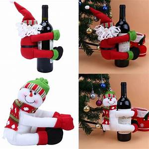 Christmas, Large, Wine, Bottle, Decoration, Bottle, Cloth, Dolls, Pieces, Christmas, Decorations, For, Home