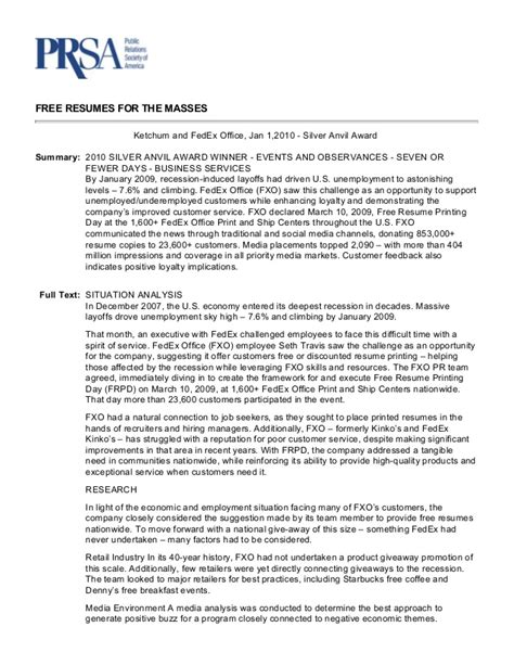 Fedex Resume by Fedex Resume