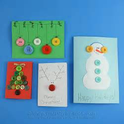 homemade button cards for christmas crafts by amanda