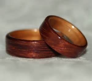 wooden wedding bands wooden wedding rings with liner custom woods of your choice