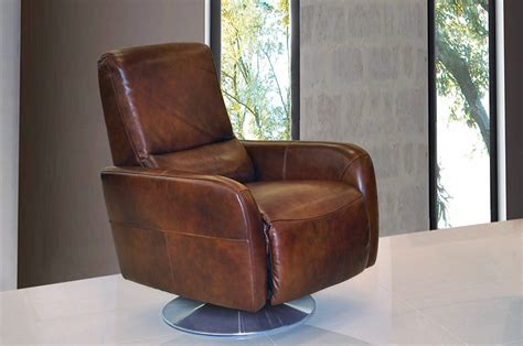leather recliner modern living room swivel chair