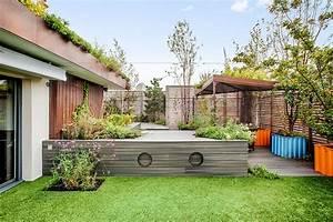 Terrasse Forme Originale Latest Terrasse De Jardin En