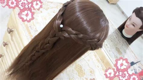 peinados faciles bonitos  rapidos  trenzas  nina  cabello largo  el colegio