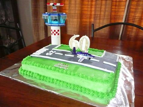Dad's 60th Birthday Airport Runway Cake Airplane