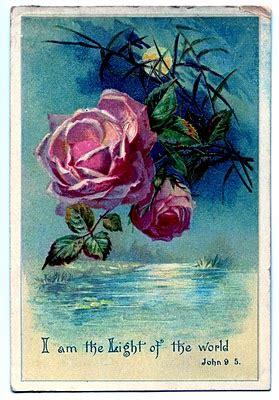 vintage clip art moonlight  roses   graphics fairy