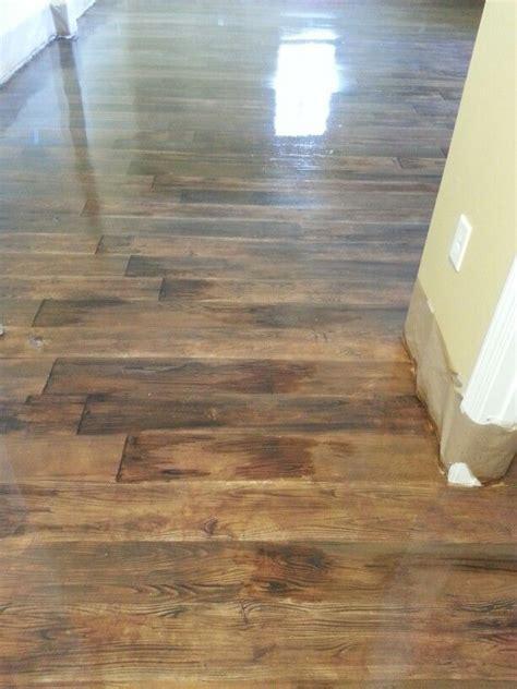 wood floor concrete basement concrete floors stained to look like wood dresses pinterest basement ideas concrete