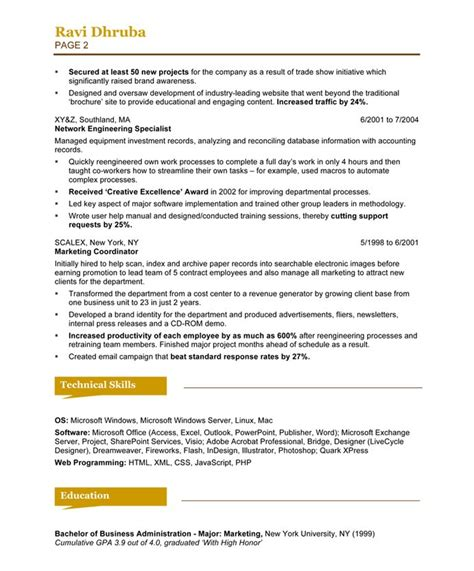 Free Resume Format For Media by Version