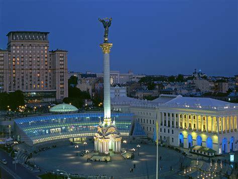 bilder blumensträußen photo kiev ukraine monuments town square evening cities houses
