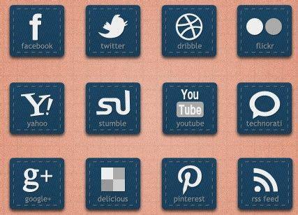 rectangle social media icons | Social media icons, Social ...