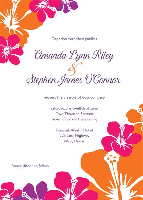 hawaiian invitation templates