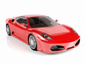 Red Sport Car On White Background Stock Image - Image of ...