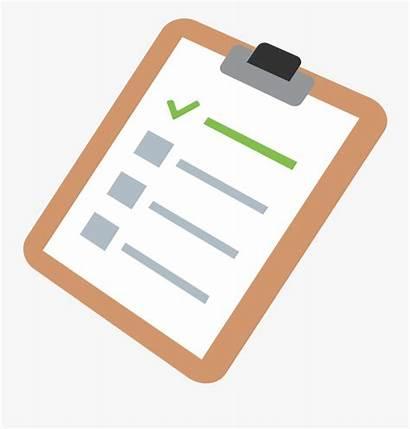 Checklist Clipboard Clipart Template Transparent Clipartkey Finder