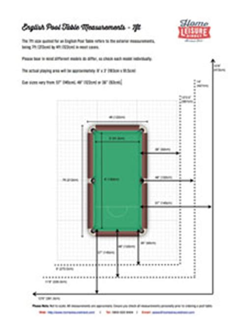 pool table room size guide home leisure direct