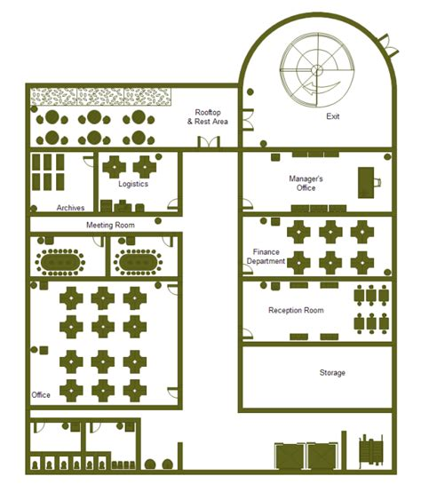 Building Layout Diagram by Office Building Plan Exles And Templates