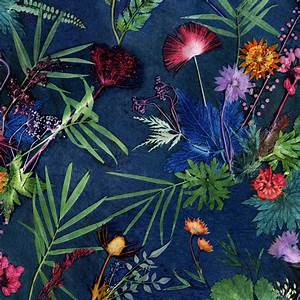 statement wallpaper for interior decor, bold tropical by ...