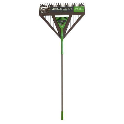 Ames Dual Tine Poly Leaf Rake - 45% Faster - The Green Head