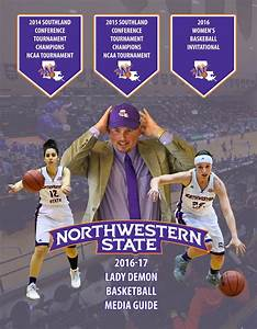 2016-17 Northwestern State Women's Basketball Media Guide ...