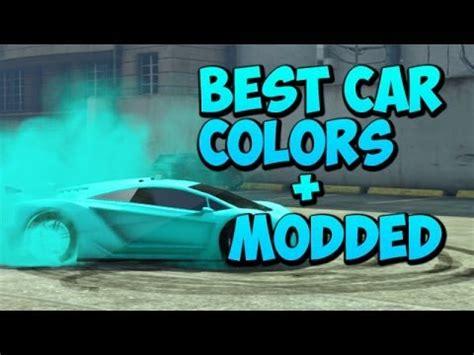 gta    car colors including fluorescent blue